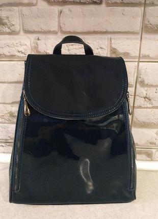 Кожаный шикарный рюкзак