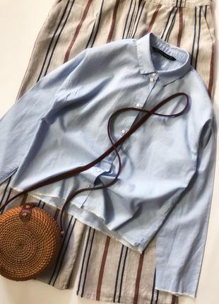 Котоновая рубашка от zara