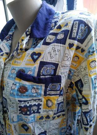 Пижама кофта для дома большого размера на длинный рукав 3xl-4xl3 фото