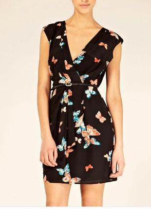 Платье с бабочками на запах oasis