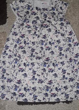 Стильное котоновое платье с принтом от h&m