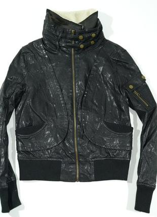 Женская куртка из искусственной кожи кожзам walter baker