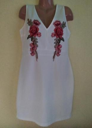 Вечернее платье с вышитыми розами parisian
