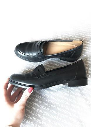 Лоферы туфли кожаные мягкие черные купить цена