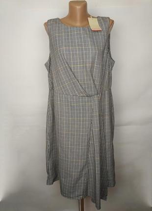 Платье новое стильное в клетку большой размер monsoon uk 18/46/xxl