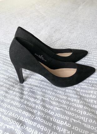 Туфли лодочки на каблуке острый носок эко замша купить цена