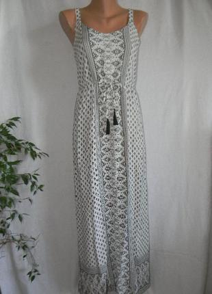 Легкий натуральный длинный сарафан