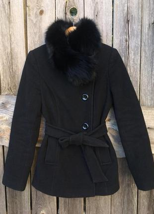 Пальто демисезон натуральный мех