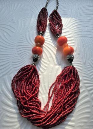 Ожерелье колье в восточном стиле винтаж бижутерия