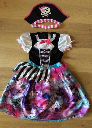 Карнавальное платье пиратка оригинал 7-10 лет дисней