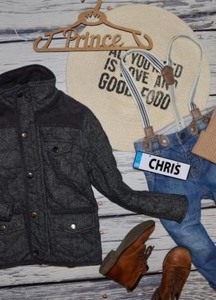5 - 6 лет 116 см фирменная обалденная деми курточка куртка стеганная с заплатками