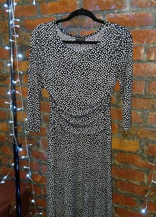 Платье с драпировкой на талии enfocus studio в горох