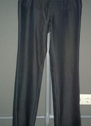 Широкие брюки с высокой посадкой