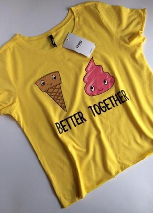 Яркая футболка с мороженкой и надписью better together от sinsay