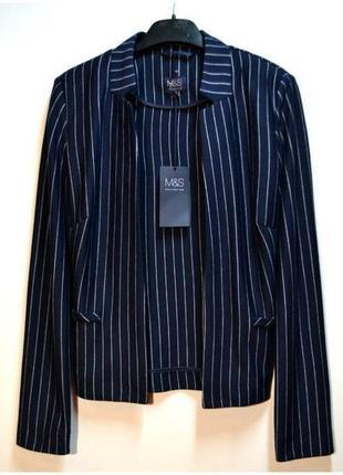 Новый стильный пиджак в полоску marks & spencer