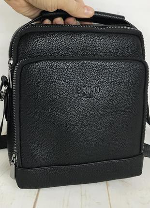 Мужская сумка-планшет polo с ручкой. барсетка мужская через плечо. кс1