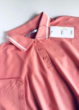 Женская футболка поло оверсайз house цвет румяна/пудра