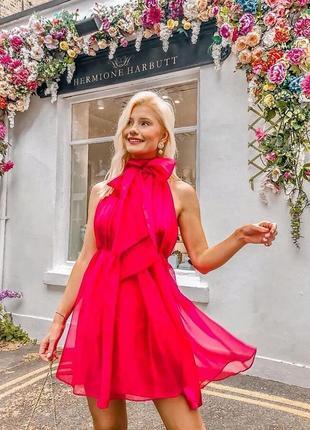 Zara premium. мини платье из органзы