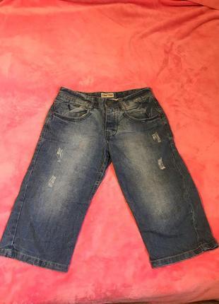 Бриджи джинсовые, капри