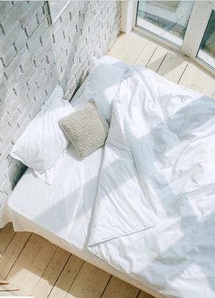 Белоснежное постельное белье из сатина