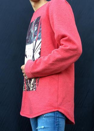 Красный мужской свитшот