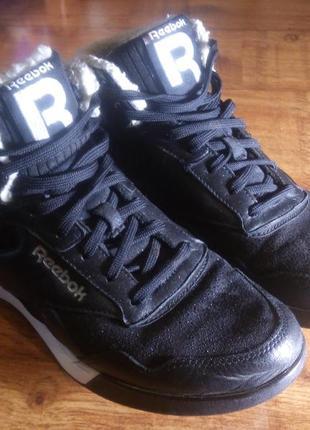 Кроссовки ботинки утепленные зимние reebok сlassic (c подошвой easy ton) (25.5 см)