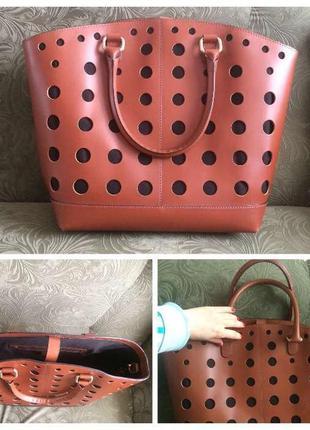 Кожаная стильная сумка asos