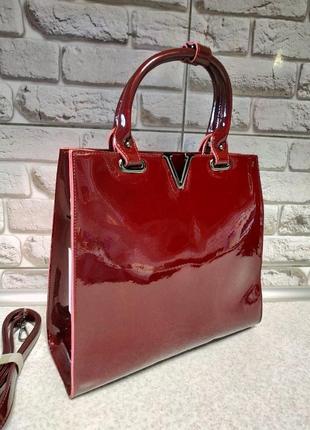 Кожаная элегантная сумка