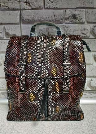 Кожаный большой рюкзак