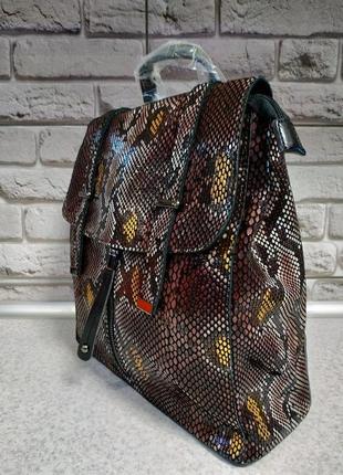 Кожаный большой рюкзак2 фото