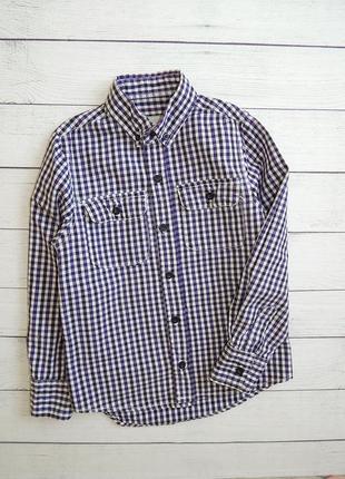 Стильная рубашка в клетку от rebel, для мальчика 7-8 лет., 128 рост.