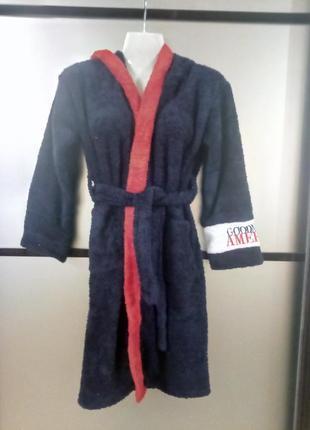 Детский махровый халат для мальчикв 8-10лет,в наличии размеры