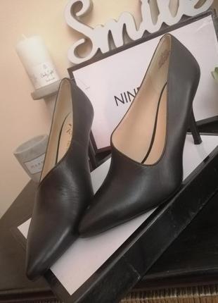 Стильные туфли nine west из натуральной кожи