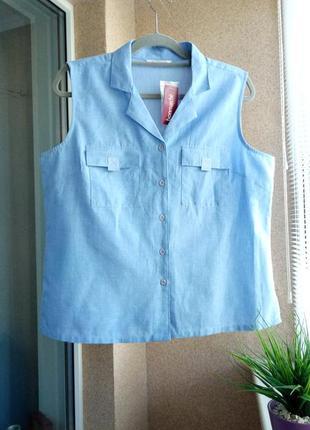 Красивая стильная блуза из натуральной ткани котон