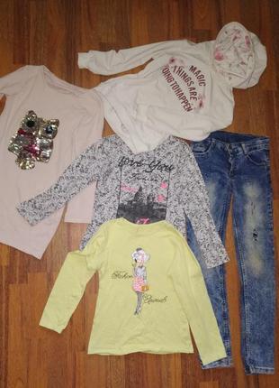 Пакет одежды ( джинсы, туника, 2 лонгслива и свитшот