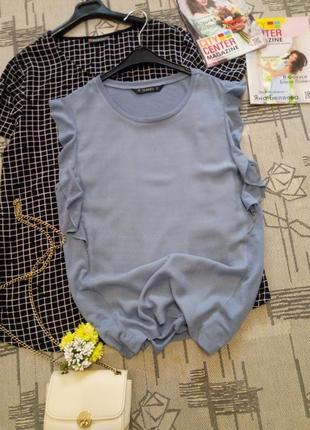 Стильная комбинированная блуза, размер 12-14