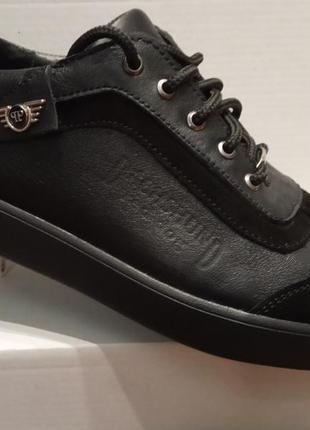 Туфли мужские кожаные + замшевые вставки