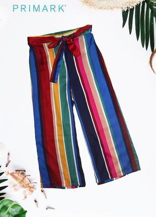 Новые полосатые штаны кюлоны в пижамном стиле primark
