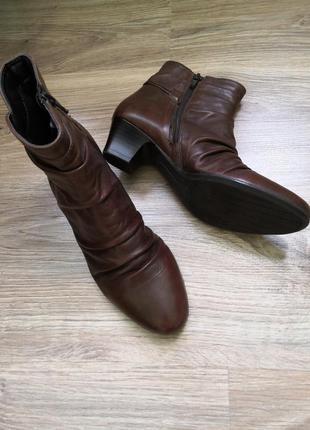 Кожаные ботинки бренда free flex, размер 37