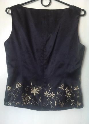 Атласный нарядный топ-блуза, майка quo