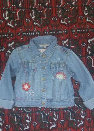 Джинсовый пиджак р.18-24, джинсовый пиджак р.86-92
