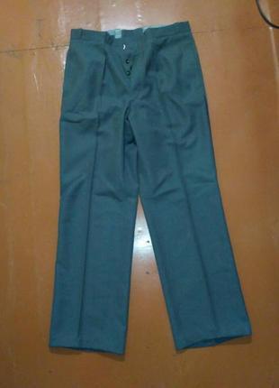 Sale #розвантажуюсь мужские темно-серые брюки с красивыми деталями скидка