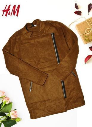 Пальто косуха с заниженными плечами divided by h&m