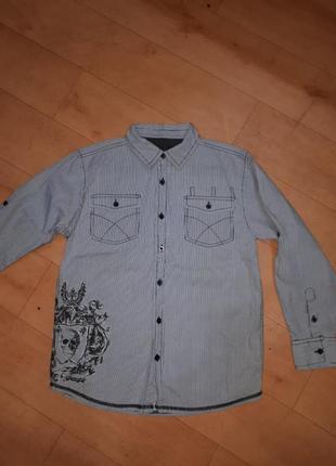 Стильная рубашка маталан 10-11лет