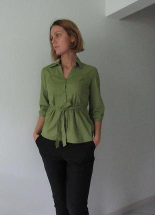 Стильна сорочка кольору greenery від h&m