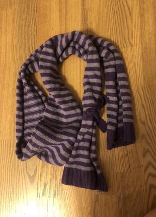 Полосатый фиолетовый шарф  co&beauty