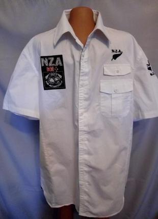 Распродажа! стильная мужская рубашка nza, большой размер