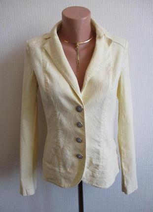 Льняной светло-желтый пиджак per una