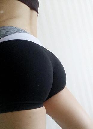 Чёрные спортивные шорты h&m размер s