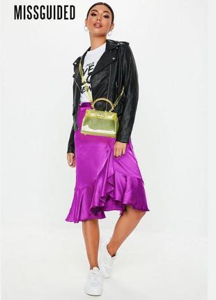 Новая юбка с нахлёстом с оборками missguided